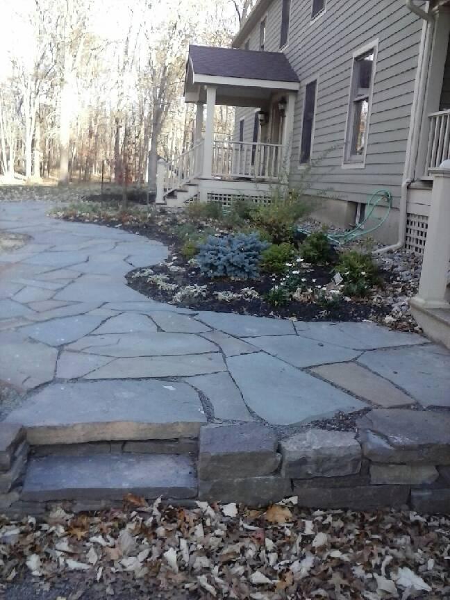 Masonry construction services for Concrete block pond construction